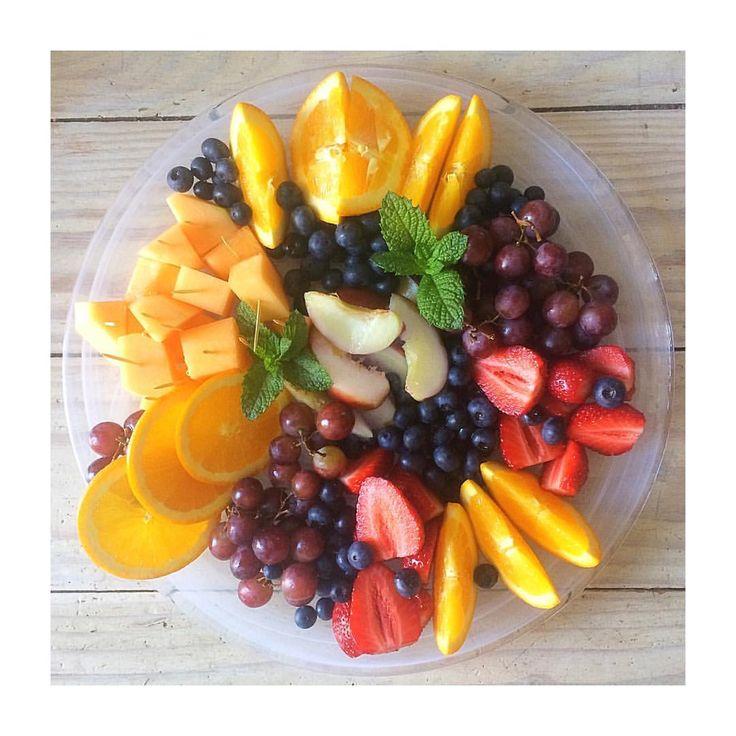 Summer fruits make the best kind of fruit platter! Also a good indication that I'm acing adulthood! (@ellek.ay) on Instagram:
