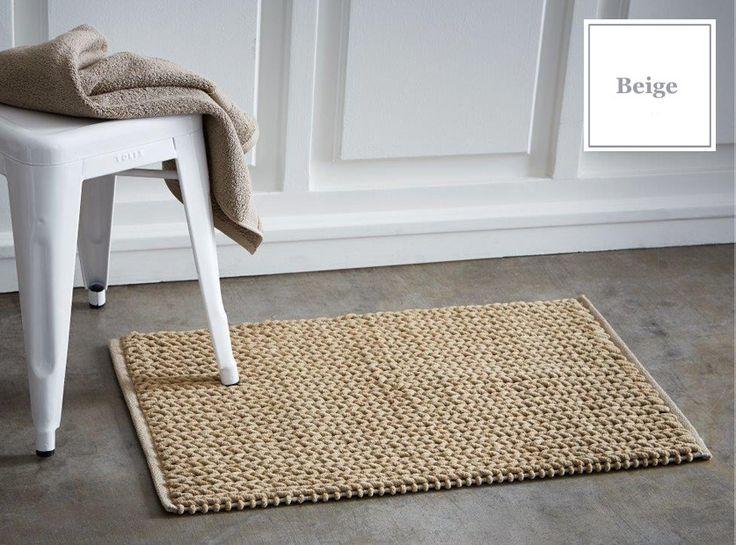 Beżowe dywaniki francuskie bawełniane do łazienki