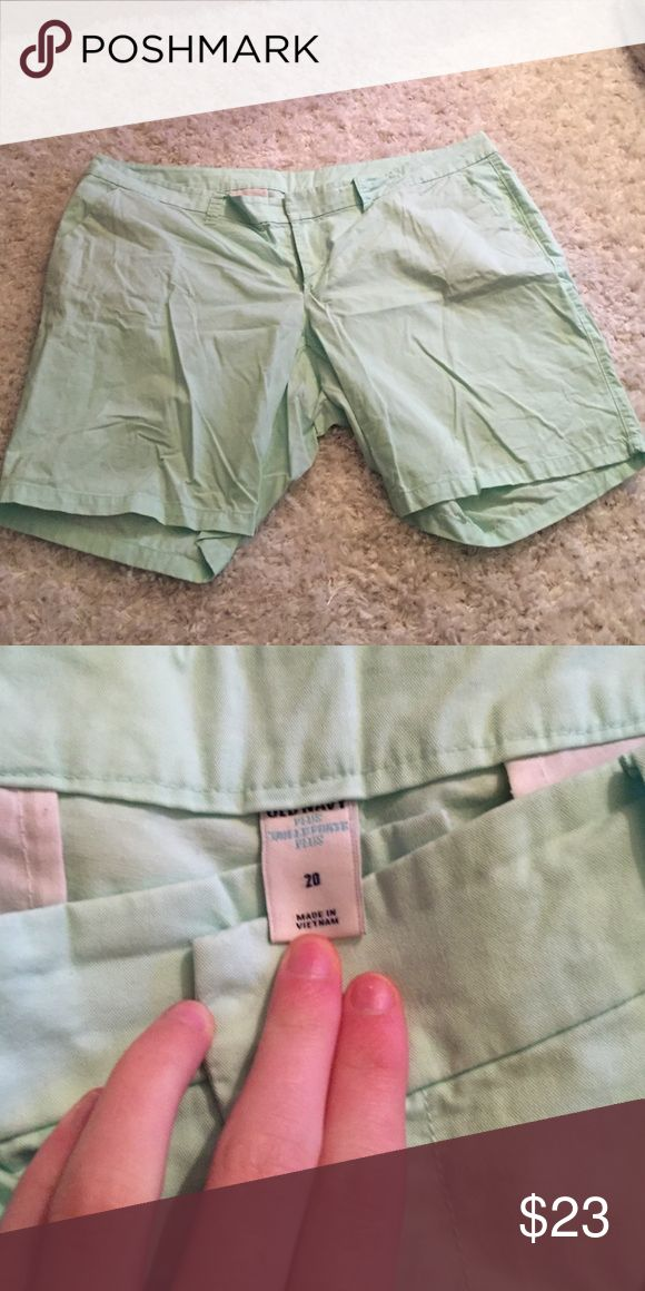 Mint Shorts Super stylish mint shorts. Would look cute with a white blouse in the spring. Could be dressed up or down. Old Navy Shorts Bermudas