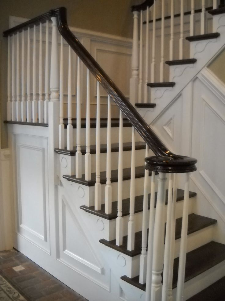 Best Wood Stairs And Rails And Iron Balusters Stairway Renovation Wood Railings For Stairs 400 x 300