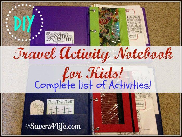 travel activity notebooks