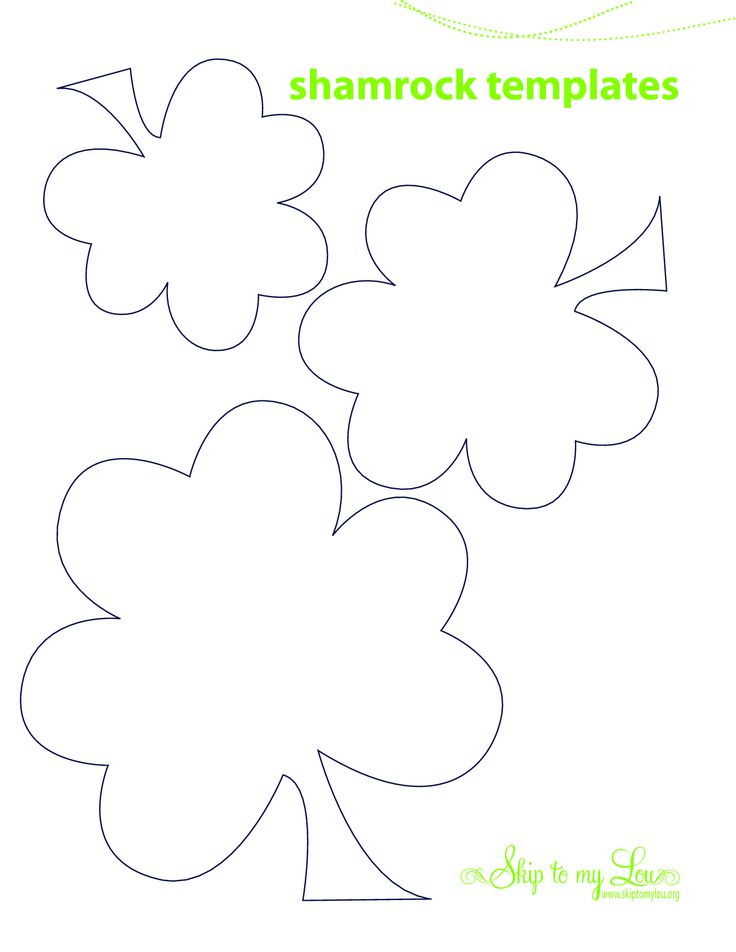 Best  Shamrock Template Ideas Only On   March Crafts