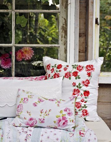 Floral touches bring a pretty touch to a conservatory