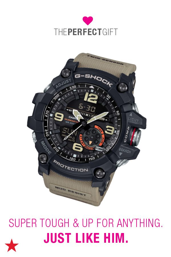 Looking for a Valentine's Day present? Search no further! Spread the love with something from Macy's. If he loves the great outdoors, this mud-proof and water- resistant G-Shock watch is the perfect gift. Head to macys.com now to shop Valentine's Day gifts!