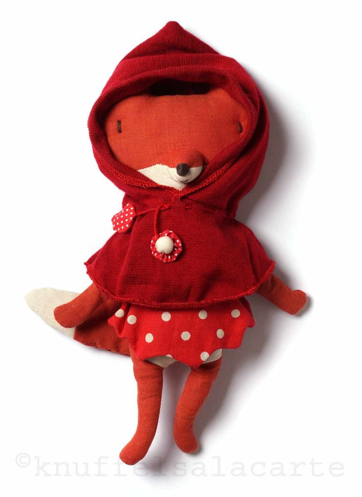 Maileg little red riding hood fox doll http://www.knuffelsalacarte.nl/roodkapje-vos-p-16833.html