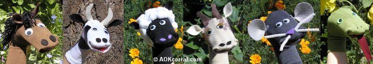 Animal Sock Puppet Pattern Free | How to Make Sock Puppets - Sock Puppet Patterns