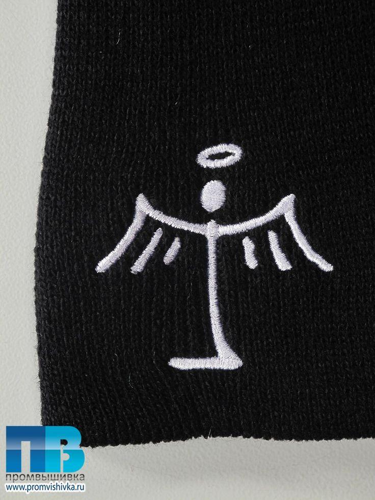 Сделать вышивку на вязаном