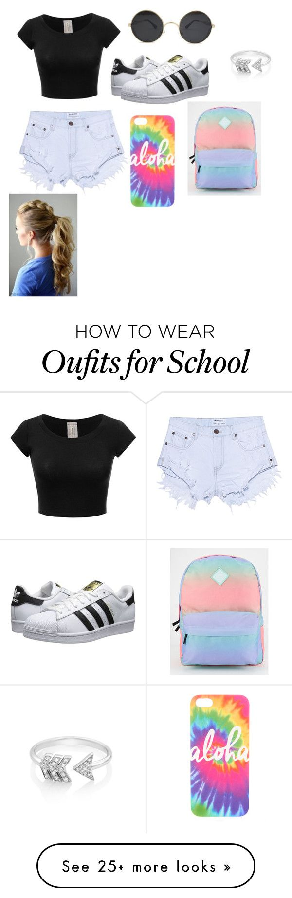 """""""School time"""" by isabellmurillo on Polyvore featuring One Teaspoon, adidas Originals, Vans and EF Collection"""