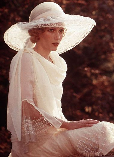 """Mia Farrow as Daisy, weathly and pretty. The Great Gatsby, 1974. Daisy to Gatsby, """"Rich girls don't marry poor boys."""" Poor high society bitches...bred to be so dumb about life yet so polite about social graces."""