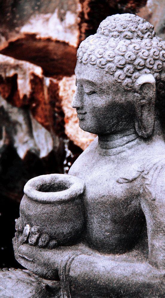 Sculpture of Buddha...serene and spiritual. Digital by ArtUnsung