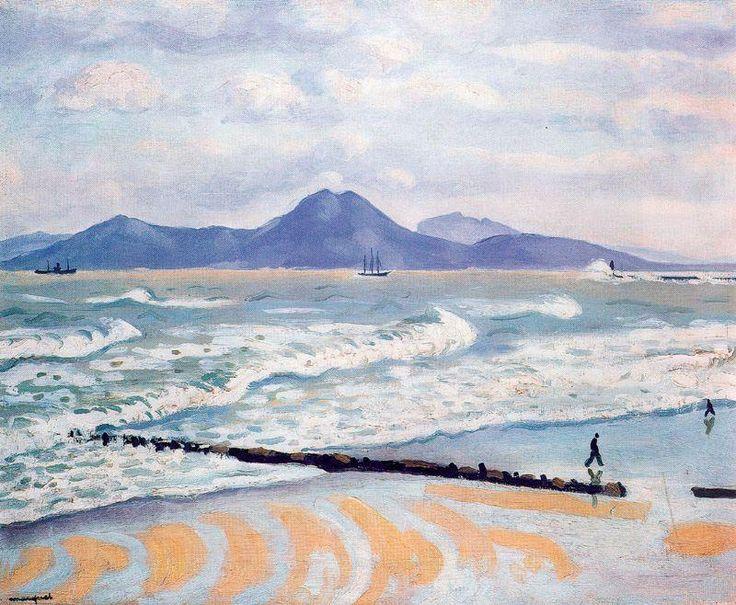 """Tempestad en La Goulette"", óleo de Albert Marquet (1875-1947, France)"