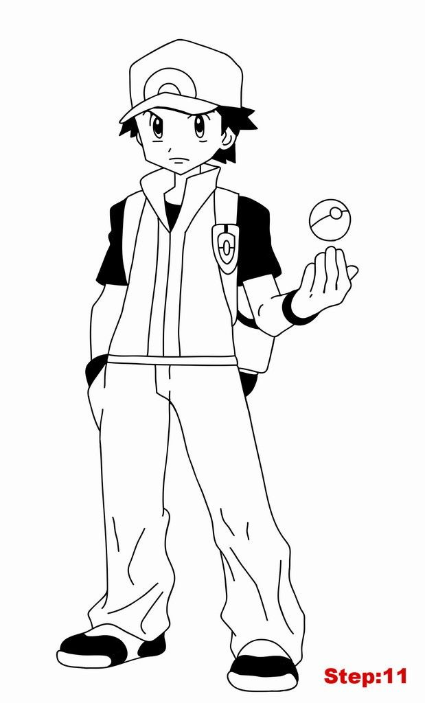 pokemon trainer coloring pages - photo#8