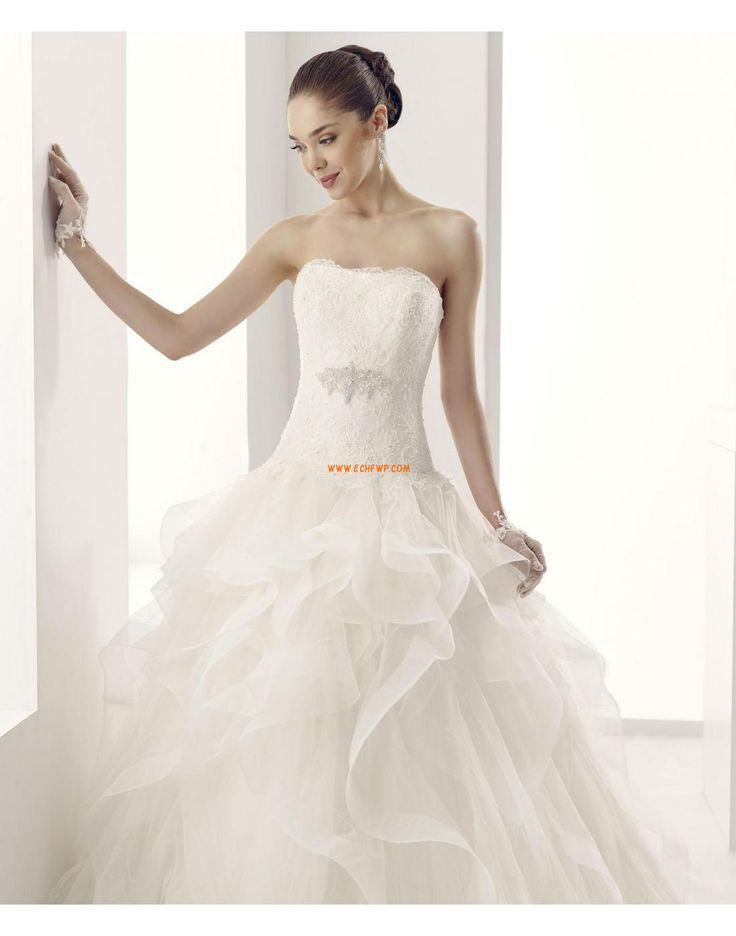Scintillant & brillant Organza Crystal détaillant Robes de mariée 2015