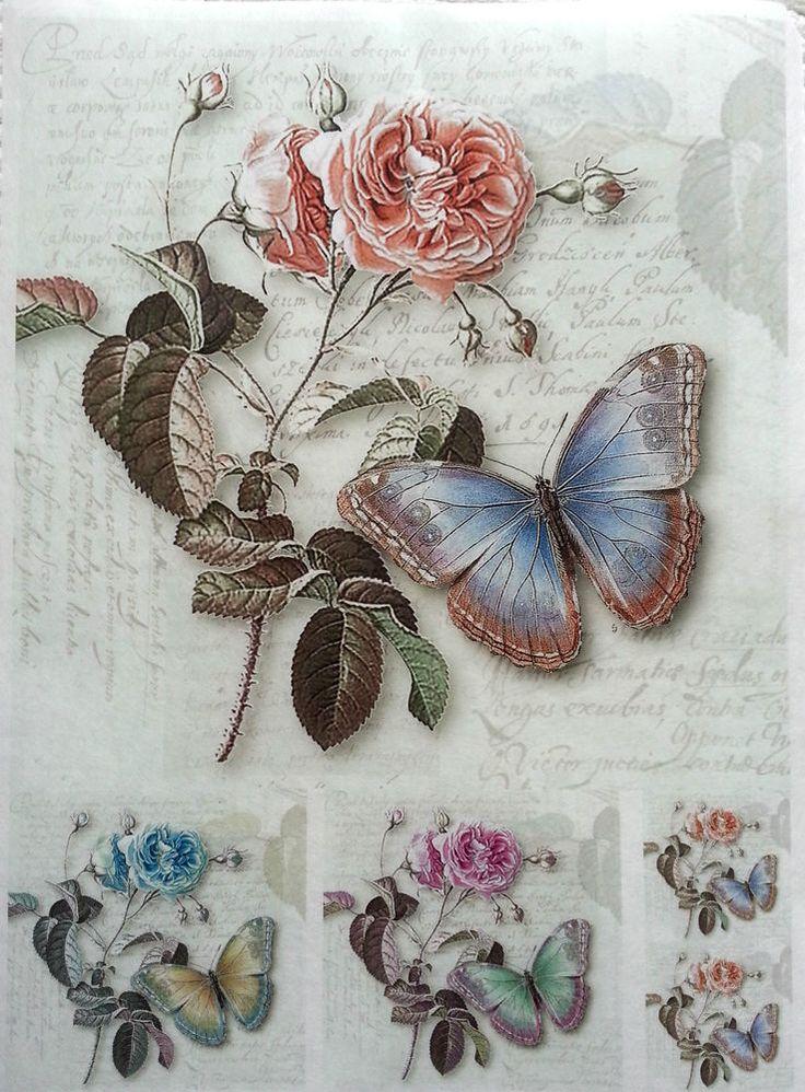 Rice Decoupage Paper / Decoupage Sheets  / Scrapbooking / Beauty ROSES