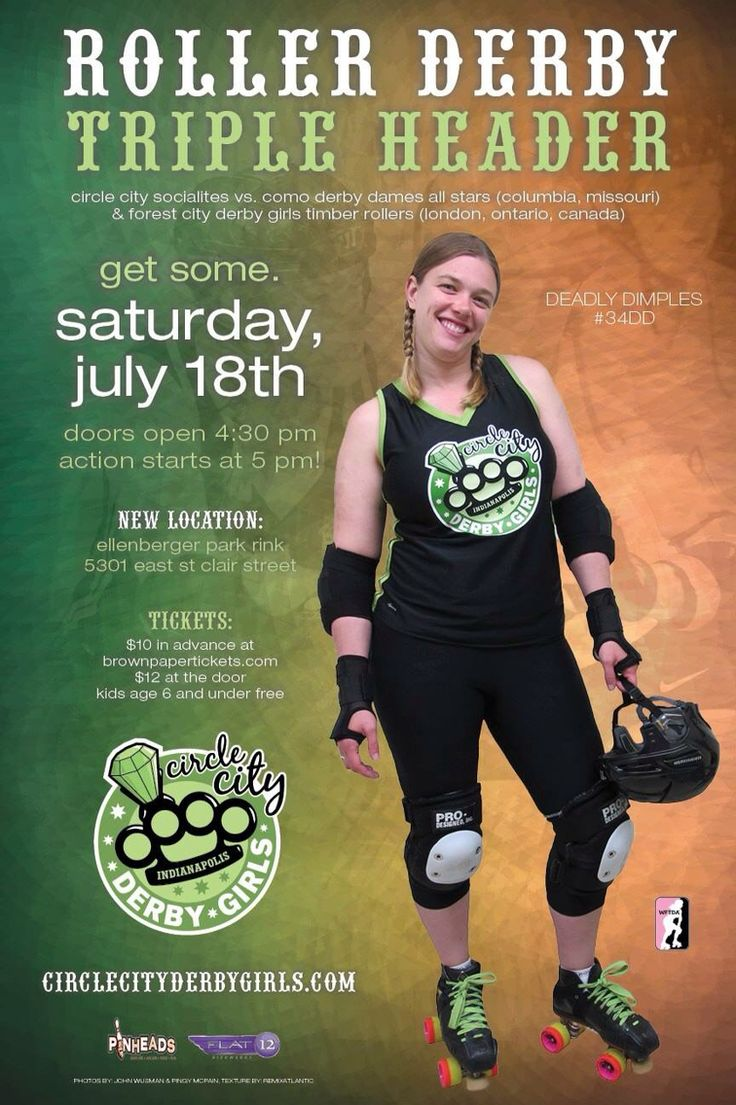 Roller skating rink peoria il - Circle City Derby Girls Season 7 Bout 4 Roller Derby Posters