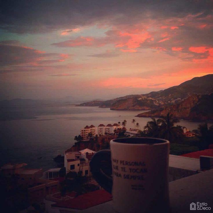 #Amanecer y #café desde Acapulco, México. Foto enviada por: Maryc De La Colina Sordo