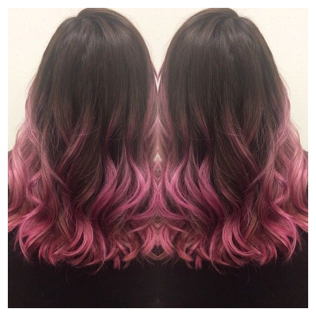 Pink and brown ombré, Pulp Riot, pink hair. Hair by Kori Alexandra. Instagram : @koridoeshair