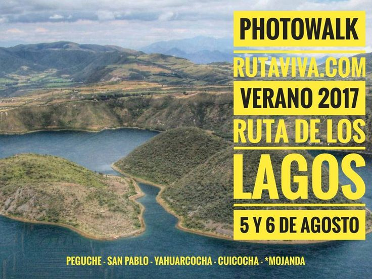 Alista tu #mochila y tu #cámara Lo que tanto habías esperado.... Ahora.... Cascada de Peguche Lago San Pablo Laguna de Yahuarcocha Laguna de Cuicocha y Laguna de Mojanda...todo el 5 y 6 de Agosto ..... Vive junto a la #FamiliaViajera una nueva aventura en la #RUTADELOSLAGOS  entre las provincias de #Pichincha e #Imbabura. Regístrate al WTSP: 098 154 3709 Un gran regalo se sorteará entre todos los inscritos. Vive tu mejor #aventura con #Rutaviva#TravelTheWorld  Los mejores #HOTELES DESTINOS y…