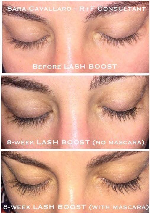 9933975d60a RFx Circle Achiever Sara Cavallaro 8 weeks results with Lash Boost- give  you longer looking