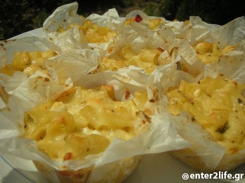 Muffins με μακαρόνια και ανάμεικτα τυριά www.enter2life.gr