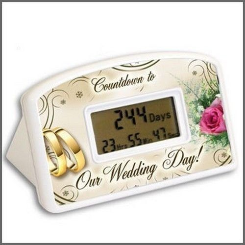 """Birthday Countdown Timer. How long until your next birthday? With this desktop countdown clock you'll know exactly when to start the party. Count down the hours, minutes and seconds with this desktop countdown clock. The clock is 4 inches wide by 2.5""""."""