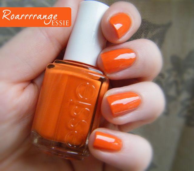 Orange Nail Polish Swatches: Essie Roarrrrange                                                                                                                                                                                 More