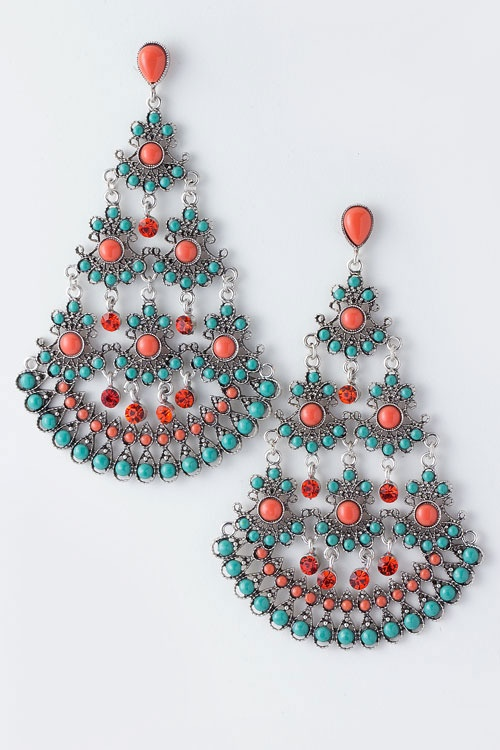 In love. Coral + turquoise = <3