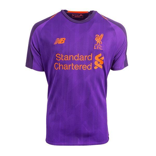 Liverpool Away Purple 2018 19 Shirt New Balance Soccer Fussball Replica Jersey Football Bnwt Top Liverpool Shirts Long Sleeve Jersey Shirt