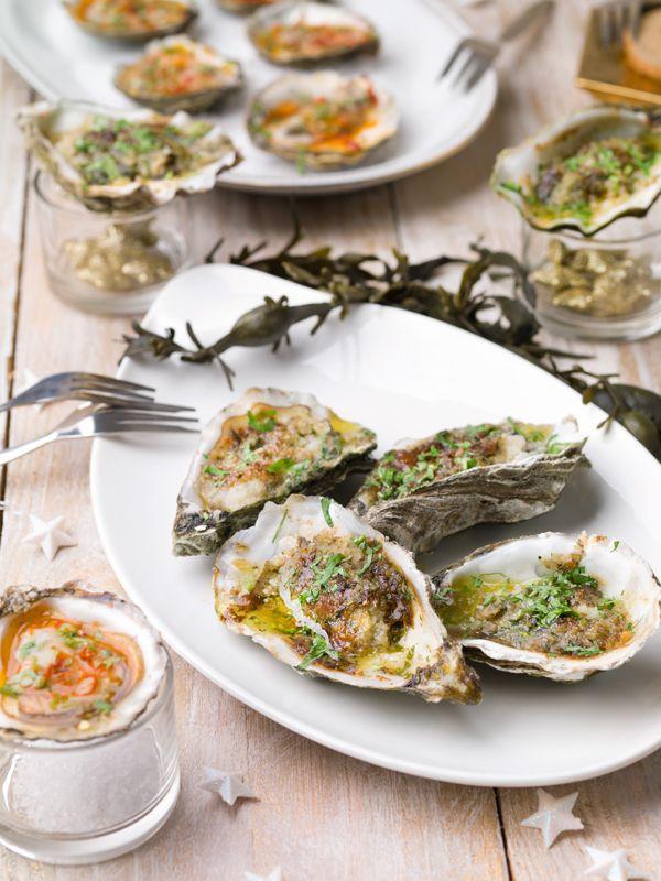 Gegrilde oesters met ansjovisboter | Spar