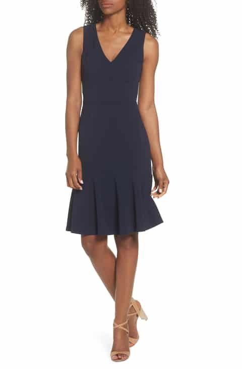 2d24f5b200f5 Vince Camuto Ruffle Hem Body-Con Dress Best Reviews