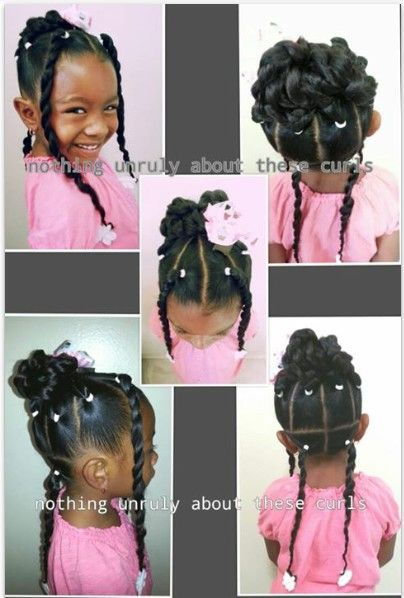 Childrens Hairstyles For School In : 944 best little black girl hairstyles images on pinterest