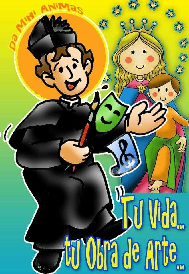 Maria Auxiliadora y Don Bosco