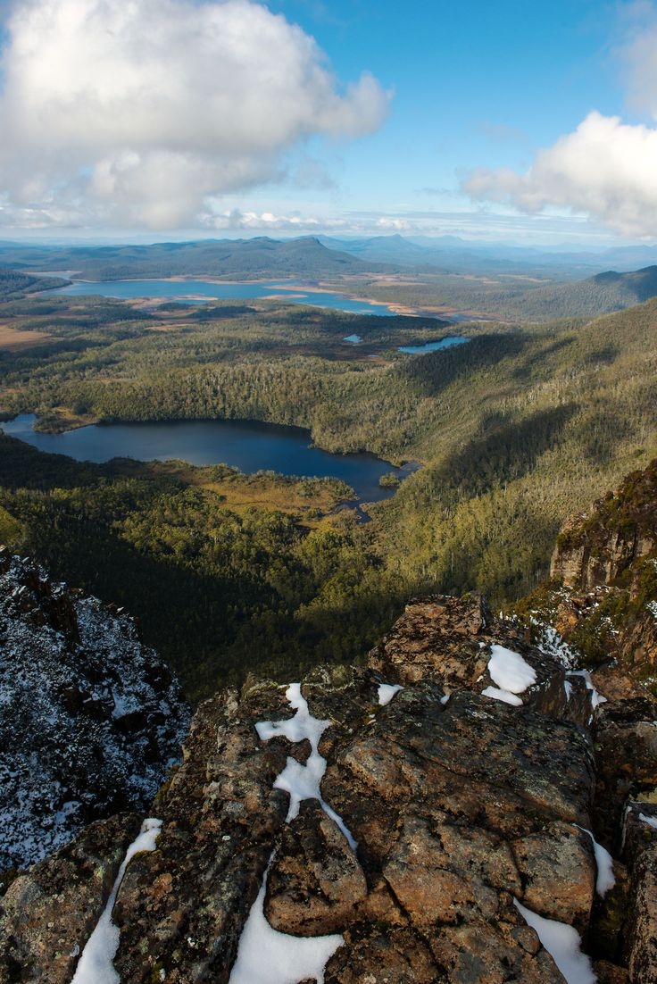 The glorious view from Mt King William I Plateau in Tasmania