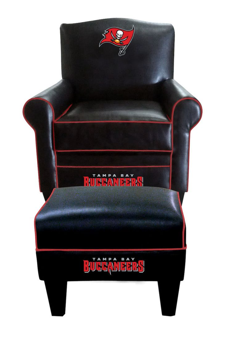 Tampa Bay Buccaneers NFL Game Time Chair With Ottoman