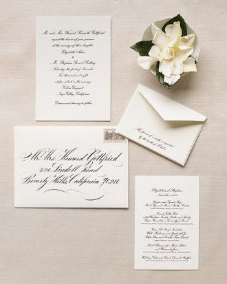 "See the ""Traditional Calligraphy Invitation"" in our Classic Wedding Invitations gallery"
