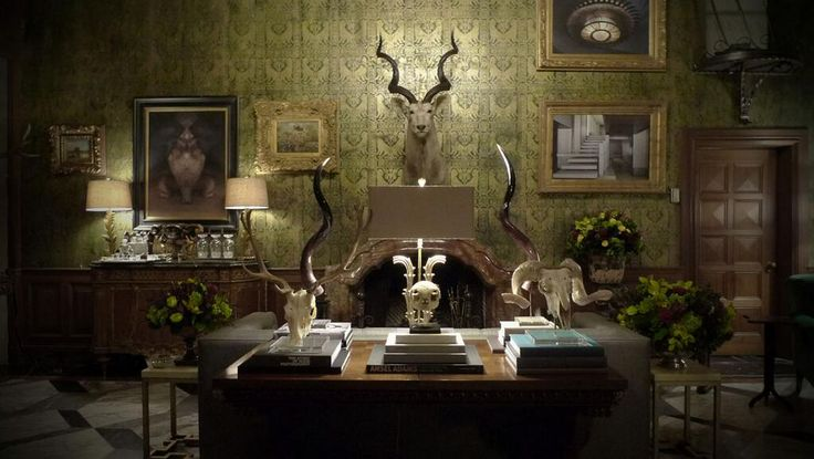Bryan Fuller Shares Pics of Hannibal's Living Room  During last week's airing of Hannibal 2x06 Futamono, Bryan Fuller shared some behind-the-scenes photographs of Hannibal's living room. He r...