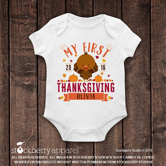 My First Thanksgiving Outfit My First by stockberryapparel
