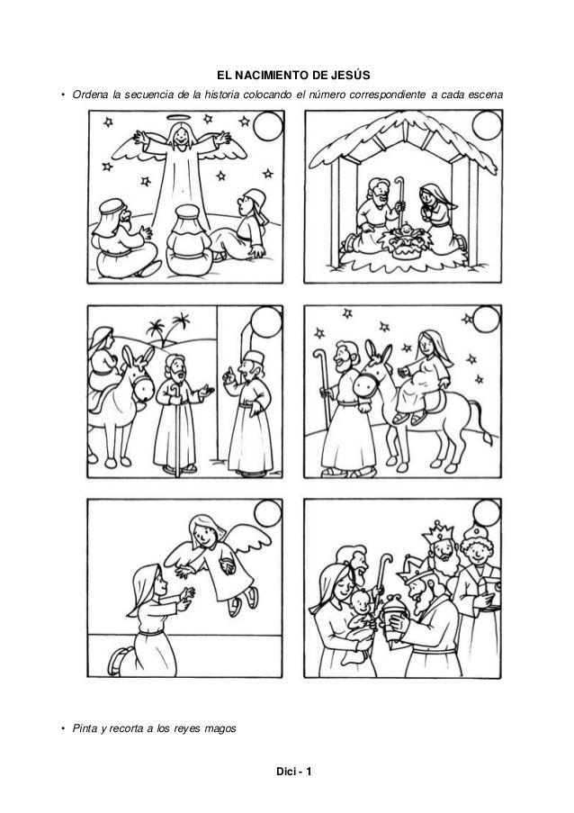 Dici 1 El Nacimiento De Jesús Ordena La Secuencia De La Historia Coloca Nacimiento De Jesus Nacimiento Del Niño Jesus Actividades De La Escuela Dominical