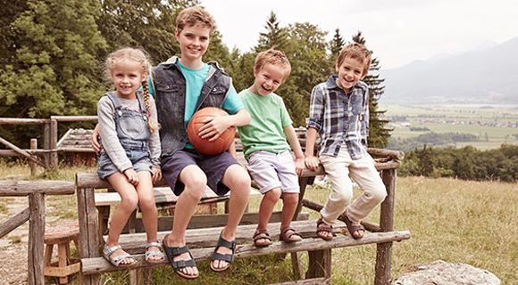 Sure, you want your kids to have healthy food. But what about healthy shoes? Children's feet are still growing and their bones are still forming. The contours of a Birkenstock mirror the foot's shape, which encourages proper growth. And that's a good first step. #birkenstocks #bestsandal #kidssandal