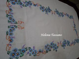 Helena Tassano manualidades, pintura sobre tela, clases de pintura, pintura sobre lienzo: mantel