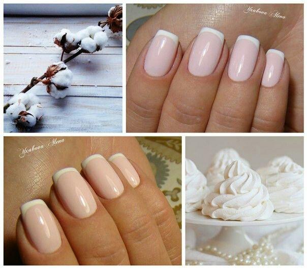 Идеальный нежный френч. Свадьба. Натуральные ногти. Гель-лак.  Красота. Маникюр. Ideale sweet french. Wedding nails. Beauty. Manicure.