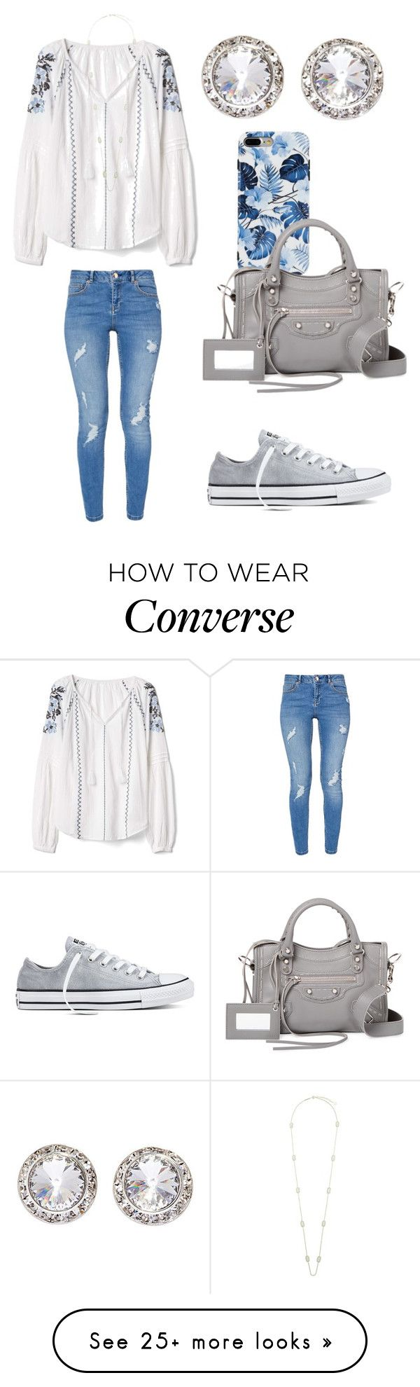 """""""Rainy day"""" by sarahfohlen on Polyvore featuring Gap, Balenciaga, Converse, Ted Baker, Kendra Scott, Summer and 2k17"""