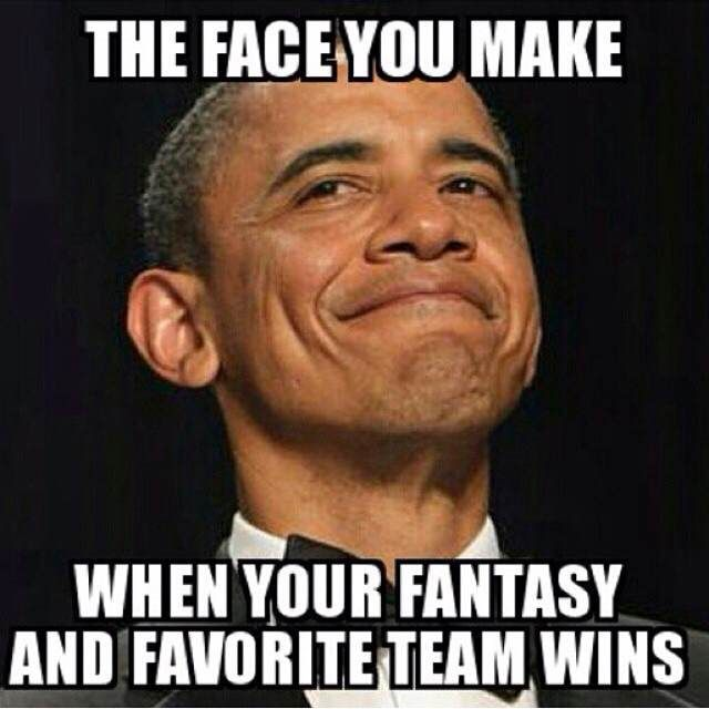 That moment when your team is #WINNING #FantasyFootball #SportsHumor #GEMillionaires