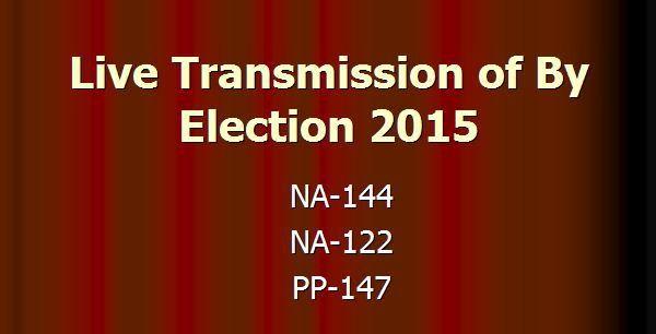NA 122 Live Transmission   By Election Updates