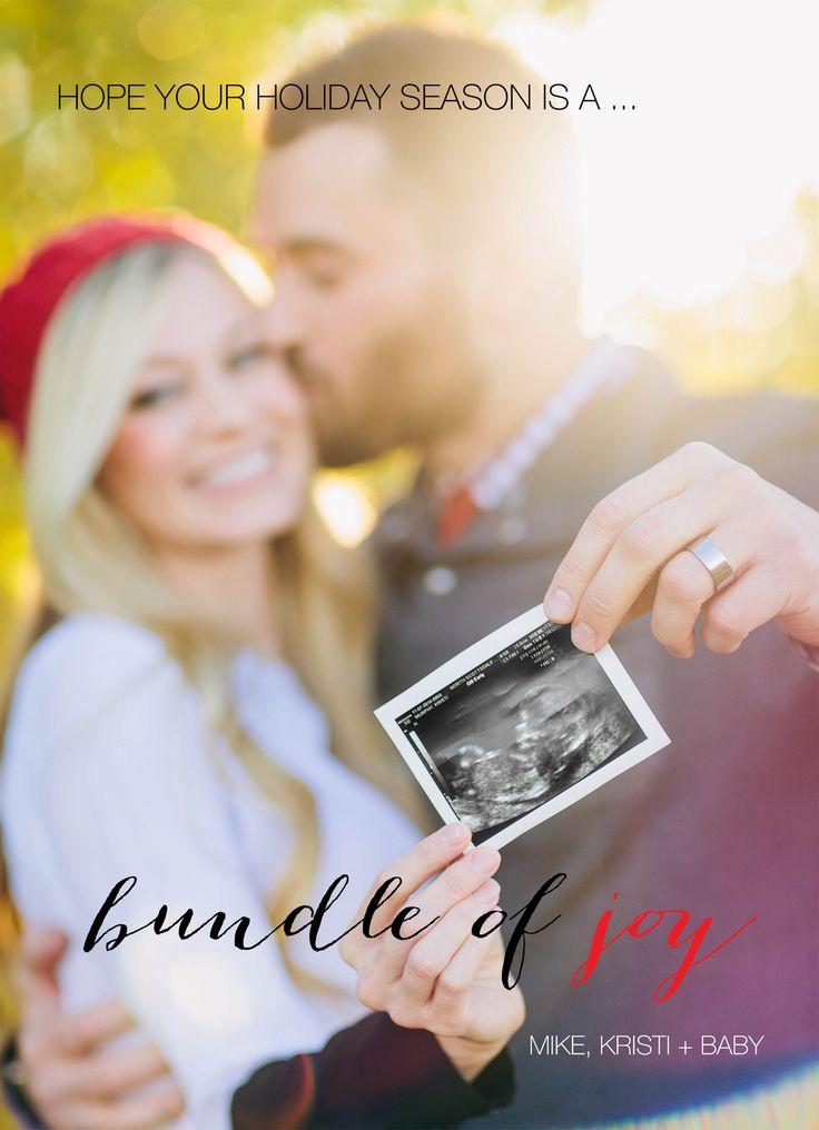Christmas card pregnancy announcement | pregnancy announcement ideas | Kristi Murphy