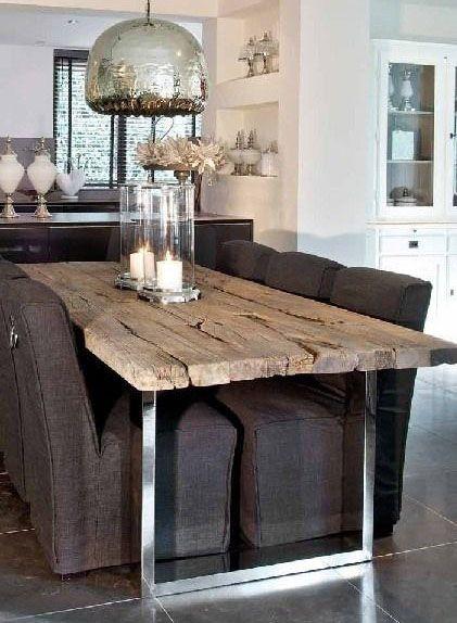 Oltre 25 fantastiche idee su tavoli in legno su pinterest - Tavoli da pranzo ferro battuto e vetro ...