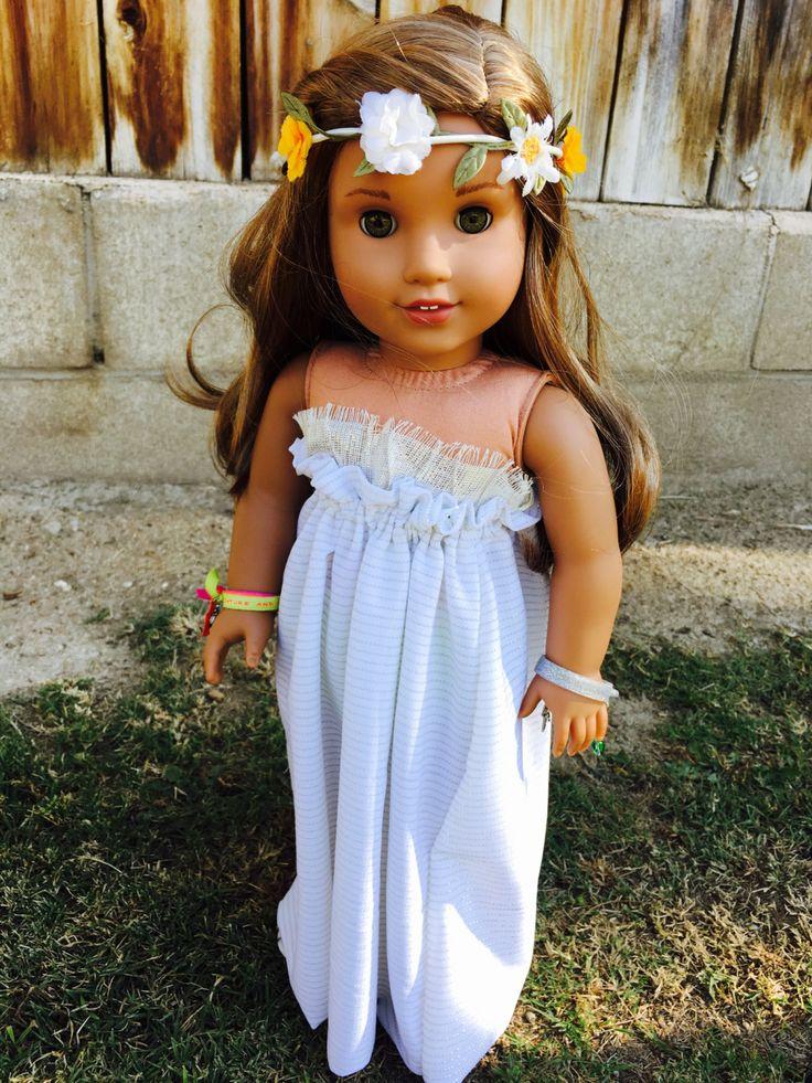 Lea Clark/ Julie Albright Inspired Maxi Dress Fits 18inch American Girl Dolls by MermaidsAndDolls on Etsy