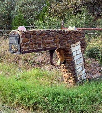 Love it!: Junk Mail, Brick, Guns Mailbox, Mailbox Ideas, You'V Got Mail, House, Red Neck, Mail Boxes, Home Offices