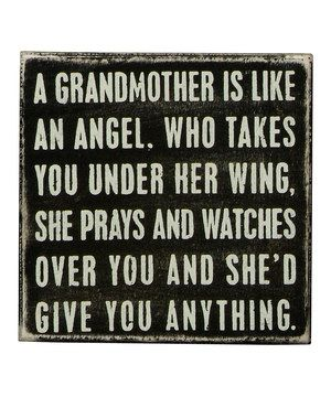 Love this Black 'A Grandmother' Box Sign by Primitives by Kathy on #zulily! #zulilyfinds