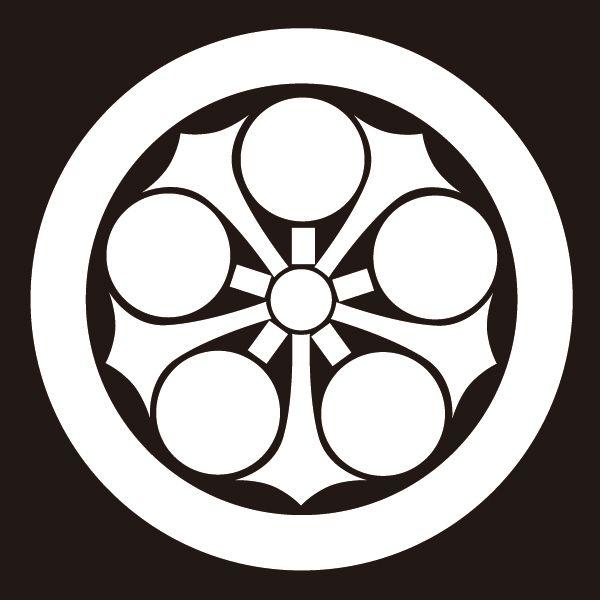 楽天市場 貼り紋 丸に剣梅鉢 シールタイプ6枚1組 着物 羽織 家紋